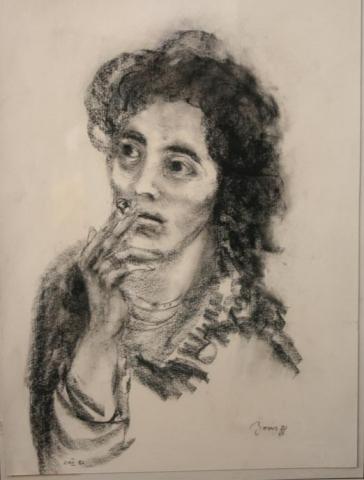 Portret Milanke 2 45x34 karbonično 1973