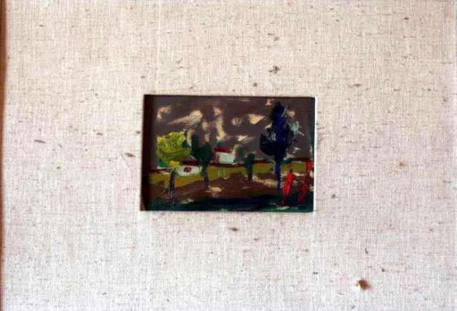 Mala skica 12x18 ulje na platnu 1961