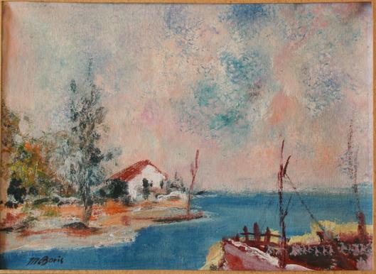 Peisaž 23x32 pastel na papiru 1960