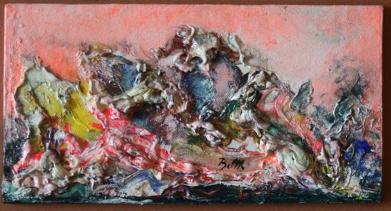 Mala slika 15x20 mješana tehnika 1960