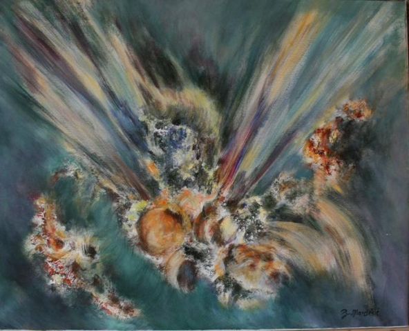Eksplozija 80x100 akrilik na platnu 1993