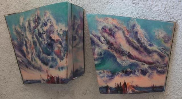 Zanos A i B 31x73 akrilik 2000
