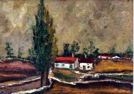 Peisaž 24x34 ulje na platnu 1964