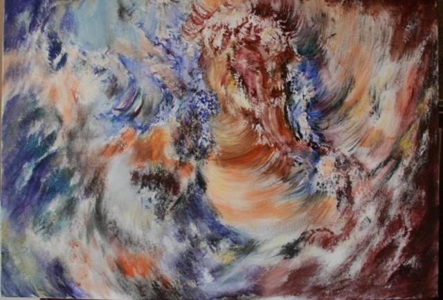 Kosmički događaj 3 70x100 akrilik na platnu 2003