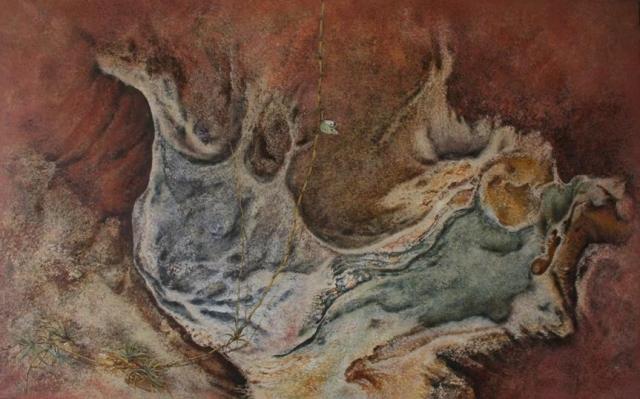 Kras i leptir 90x145 ulje na platnu 1983
