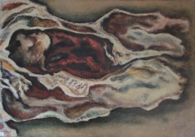 Kraski motiv 100x70 ulje na platnu 1970