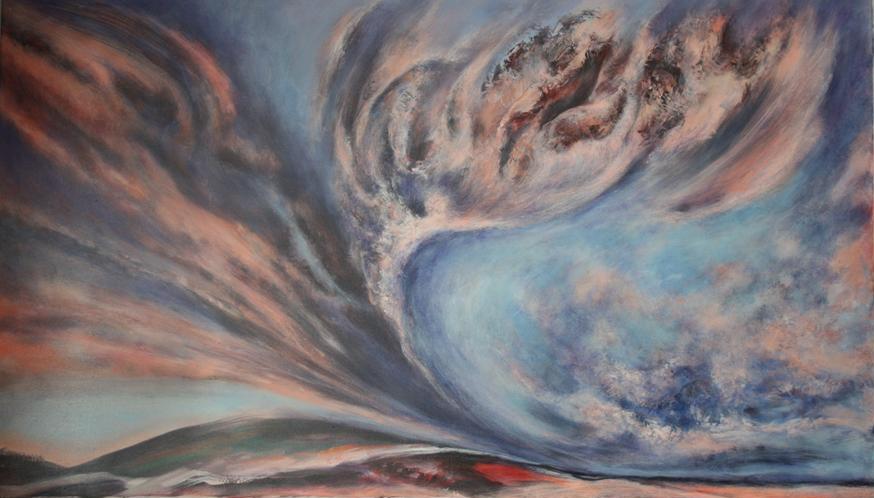 Nebeski događaj 86x148 akrilik na platnu 2000