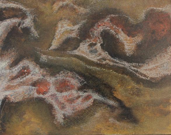 Kraski masiv 40x50 ulje na platnu 1964